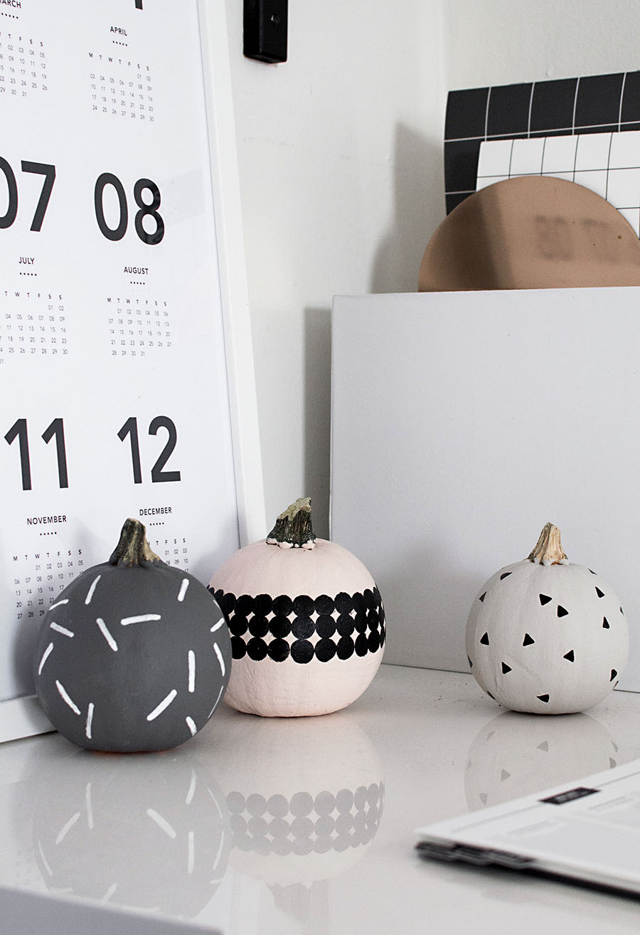 DIY patterned pumpkins from Homey oh My