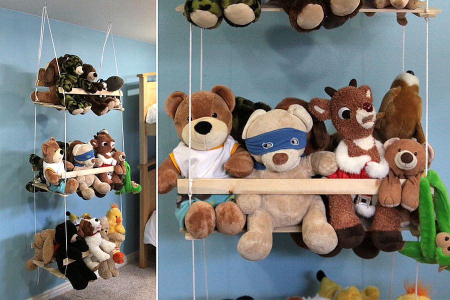 DIY stuffed animal swing
