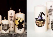 Decorative-Halloween-Candles-with-fun-motifs-217x155