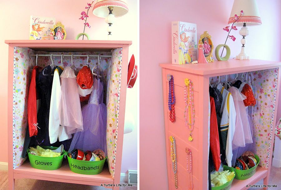 Dress Up Headquarters in Pink for the girls' room