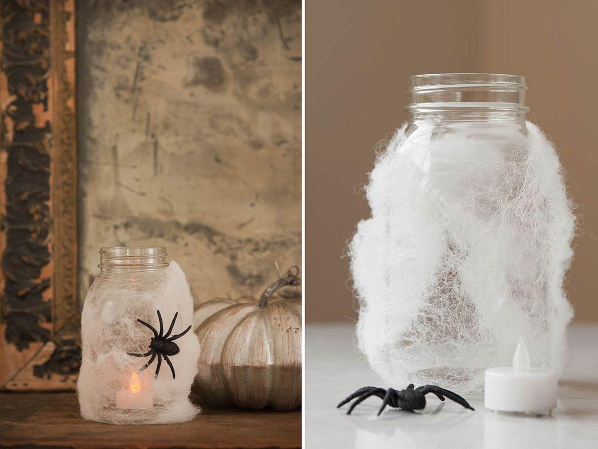 Easy to craft Halloween Spider Lanterns