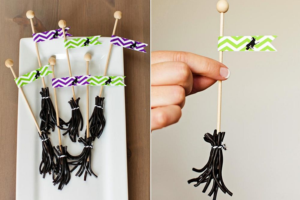 Elegant homemade Licorice Broomsticks - Kids' Crafts