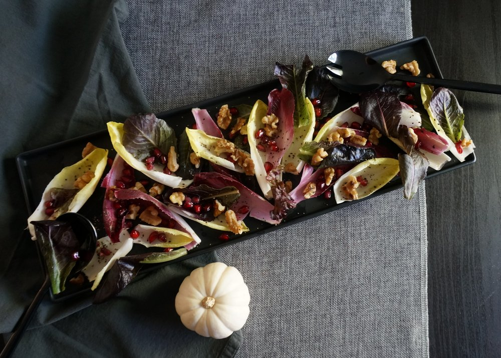 Endive salad with pomegranate