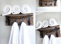 Exquisite-rustic-DIY-towel-organizer-and-holder-217x155