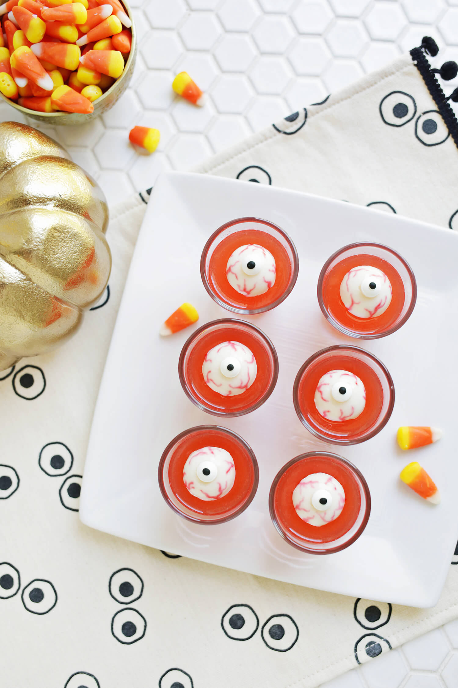 Eyeball jello shots