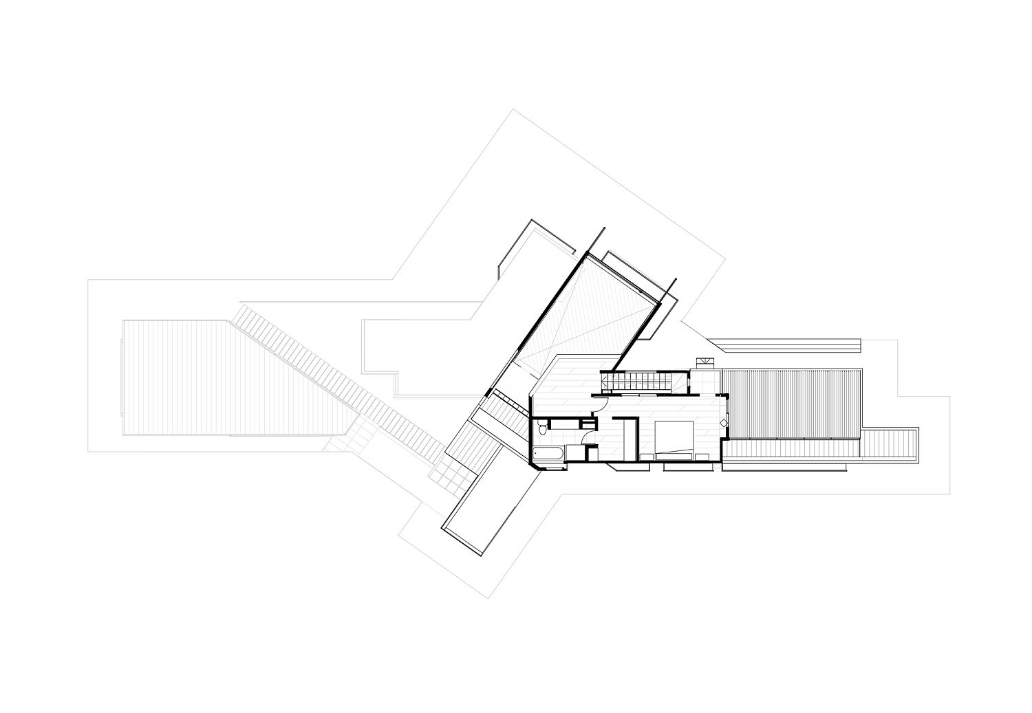 First floor plan of Passalacqua Lahsen House