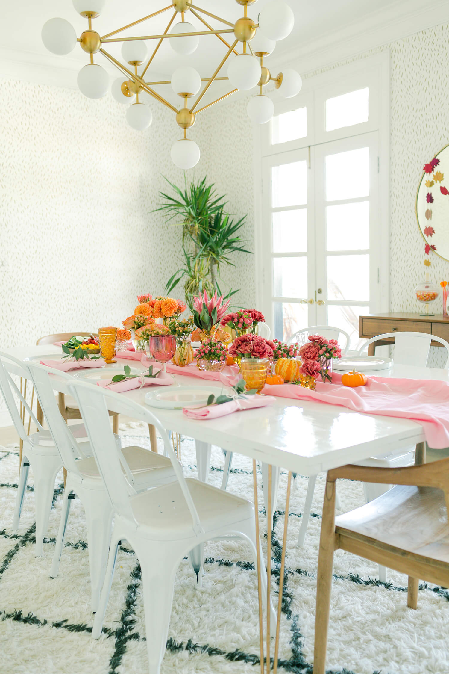 Fall tablescape from A Beautiful Mess