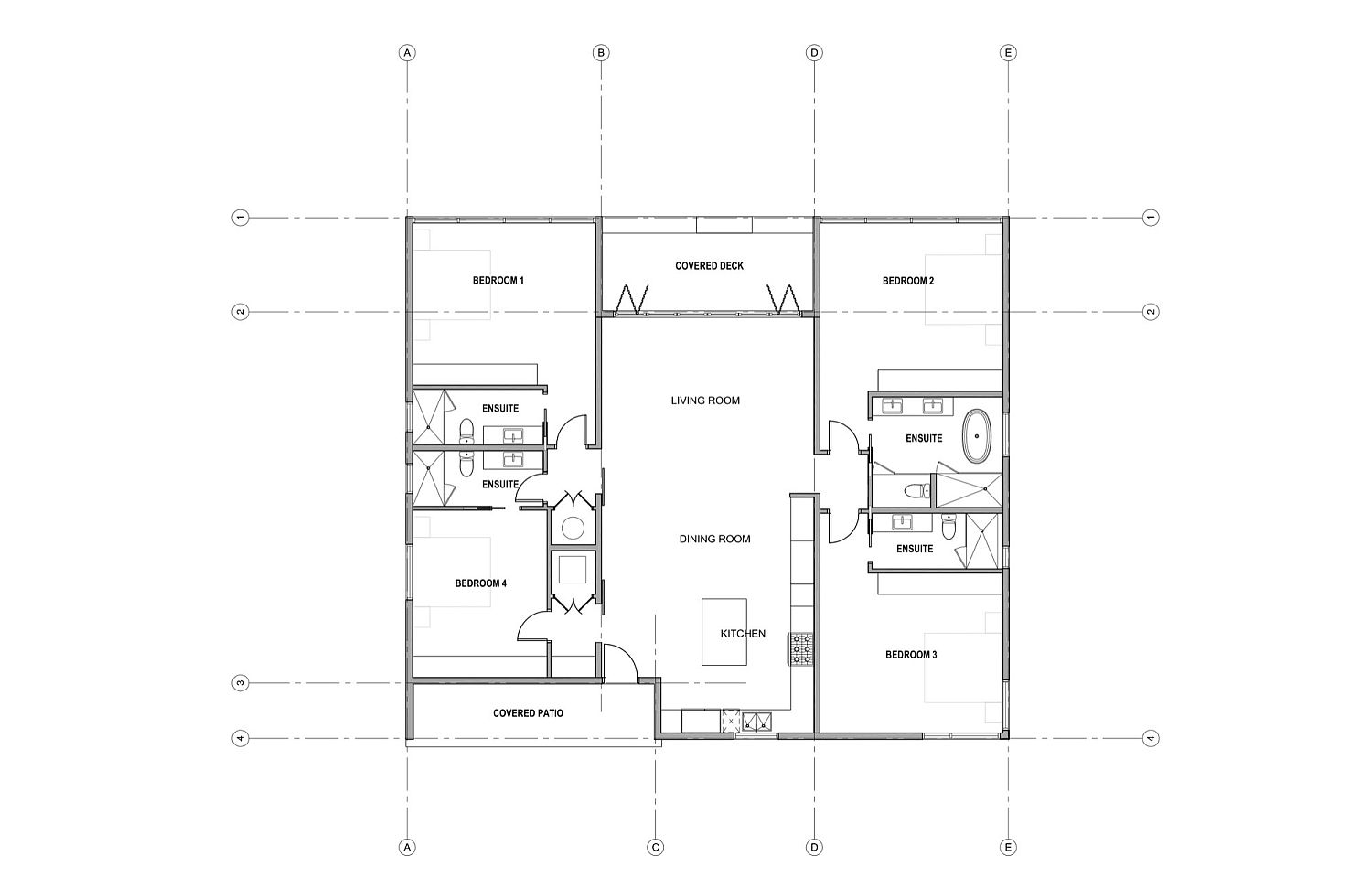 Floor plan of Cabin at Cabot Links