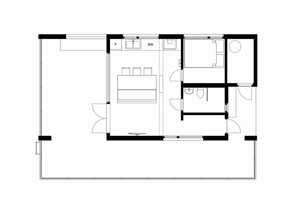 Floor plan of Nisser Micro Cabin