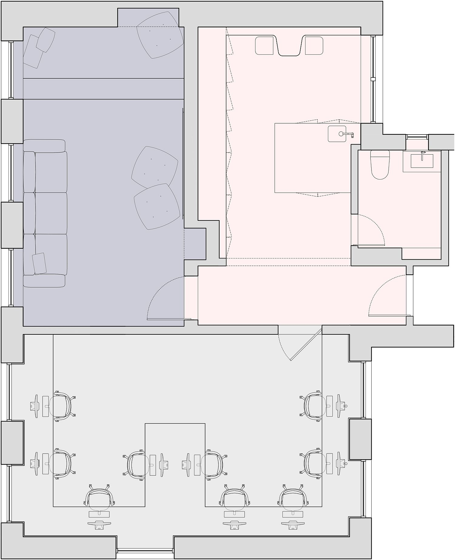 Floor plan of Objective Subject Offices
