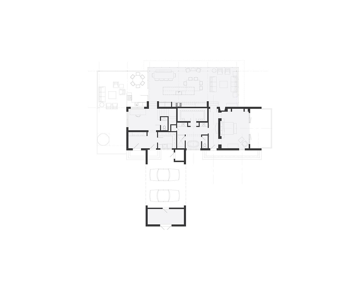 Floor plan of the Modern Farmhouse in Jasper