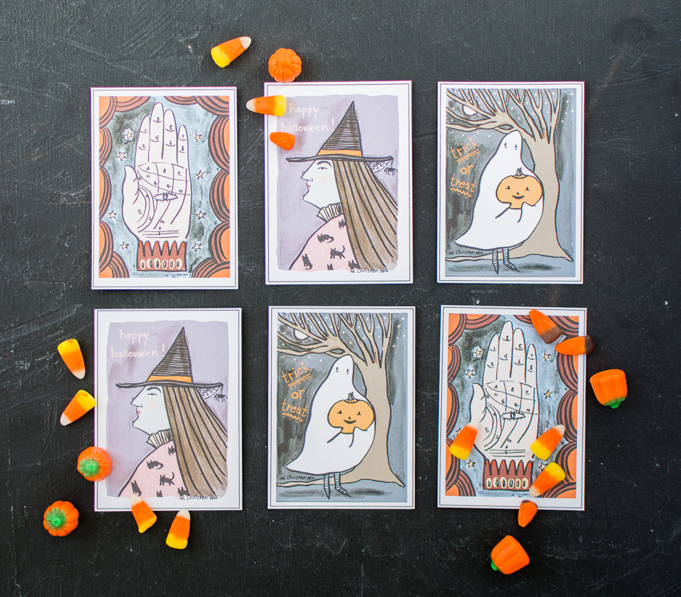 Free printable Halloween cards from The House That Lars Built