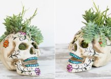 Funky-and-fun-Halloween-table-skull-centerpiece-217x155