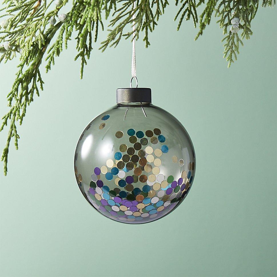 Glitter confetti ornament
