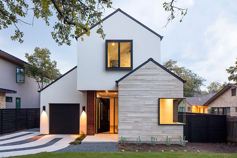Gorgeous street facade of the home allows it to stand out from the crowd