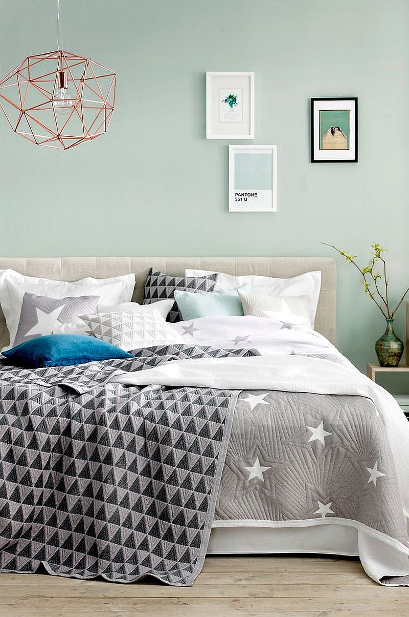 Gray-coupled-with-breezy-pastels-in-the-bedroom