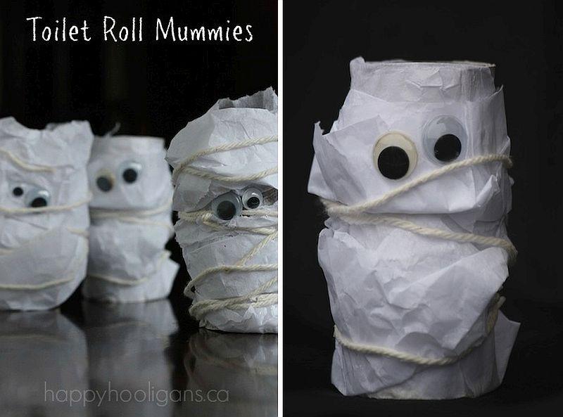 Halloween kids crafts – Toilet Roll Mummies