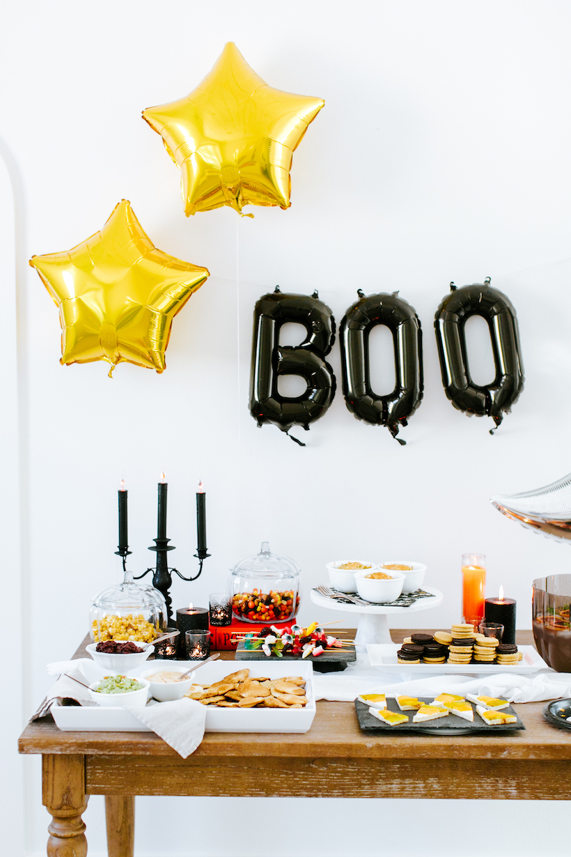 Halloween party table from Camille Styles