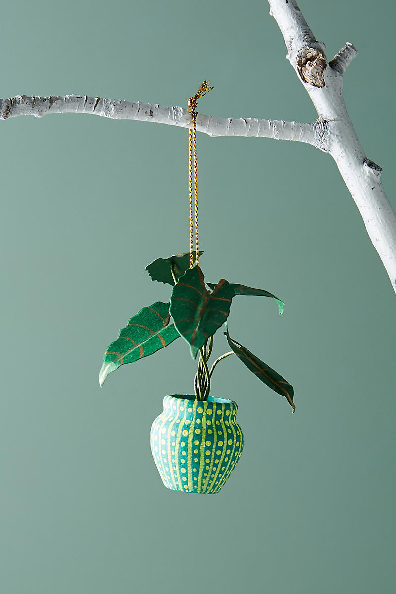 Houseplant ornament from Anthropologie