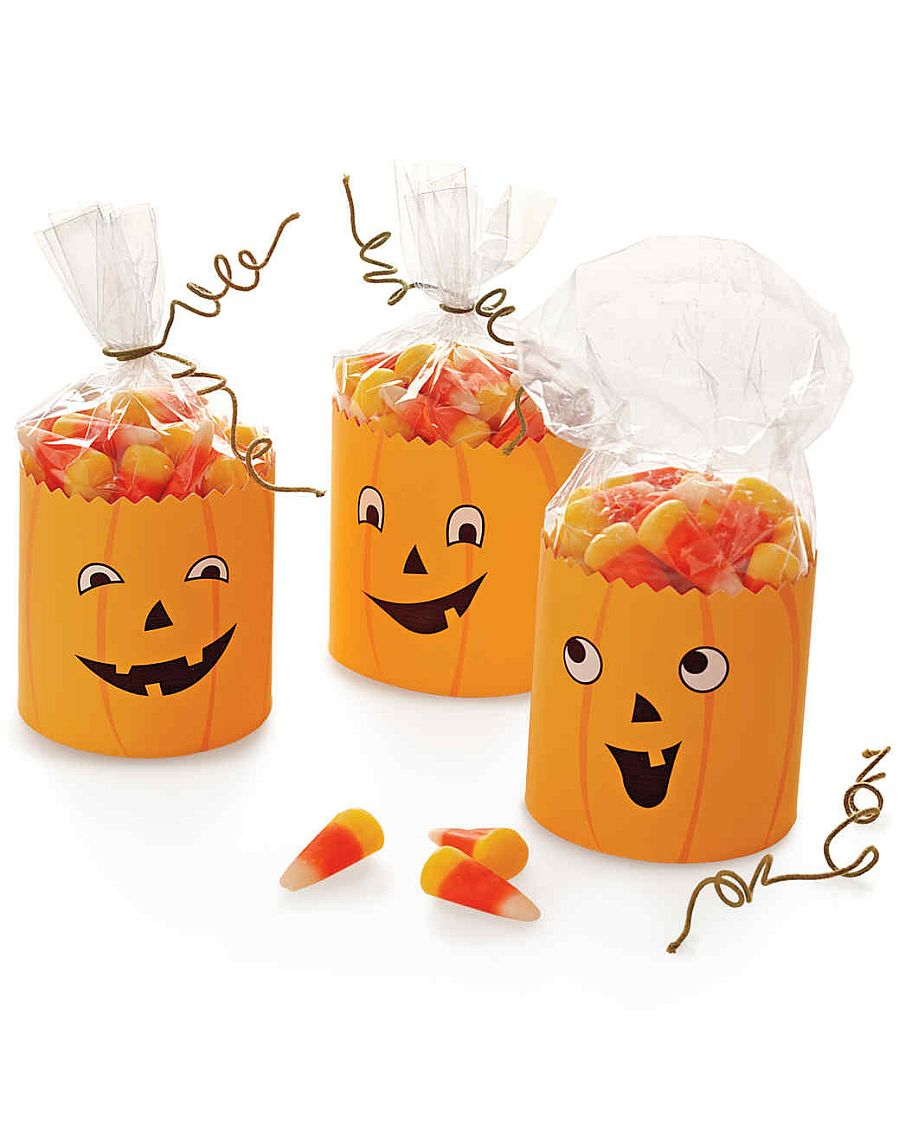 Jack-o'-Lantern Party Favors with goofy charm!