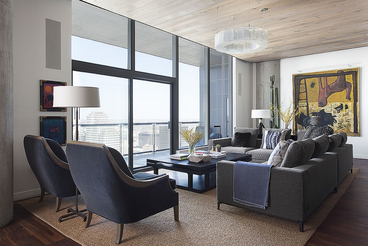 This Posh Austin Condo Features A Dining Table That Morphs Into Pool