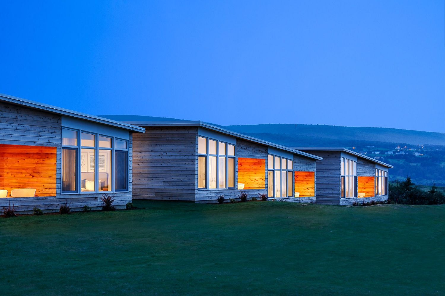 Lighting adds to the unique aura of the cabins at Cabot Links
