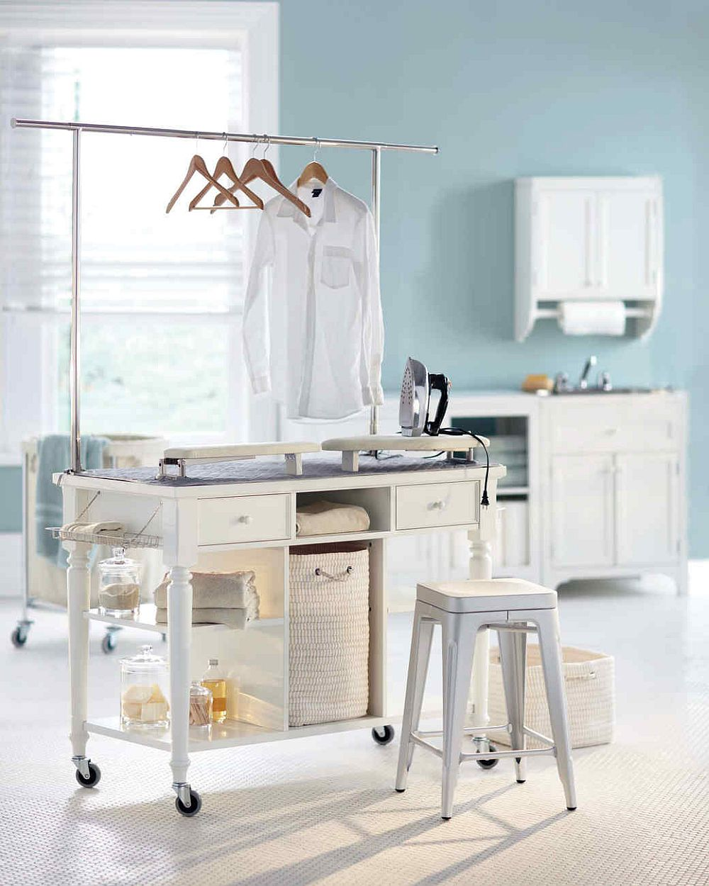 Laundry Room Carts 12 Mobile And Space Savvy Ways To
