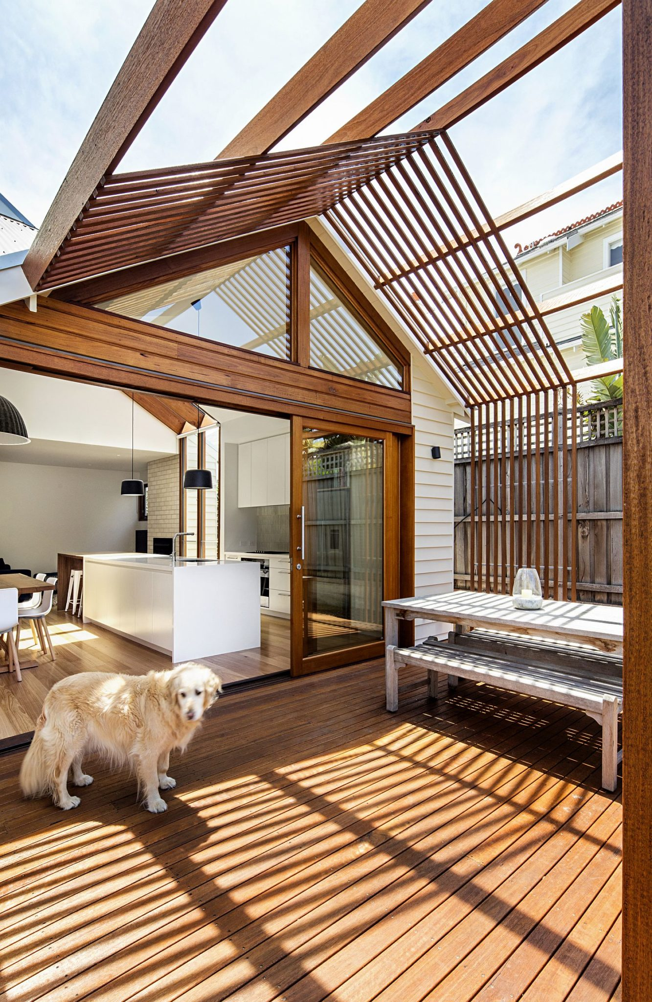 Modern Gable House extension in Sandringham, Australia