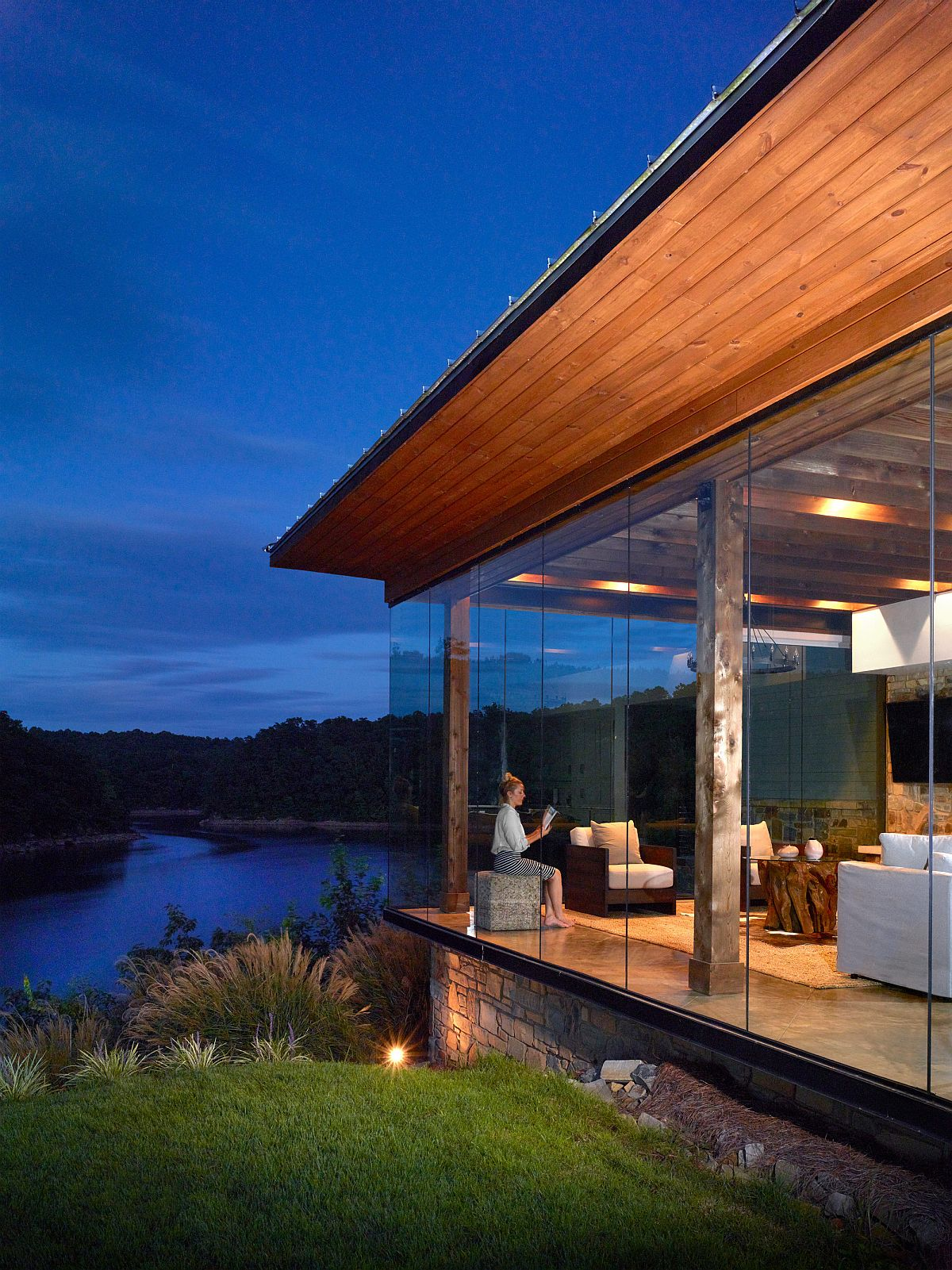 modern farmhouse a dream lakeside escape with mesmerizing