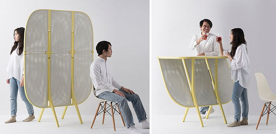 Multi-purpose divider also serves as a cool table