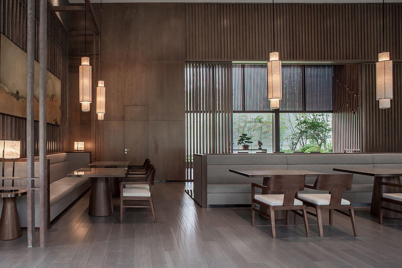 Natural materials give the interior a more serene vibe