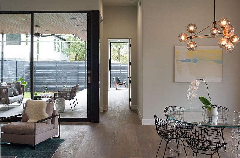 Outdoor patio brings ample natural light into home