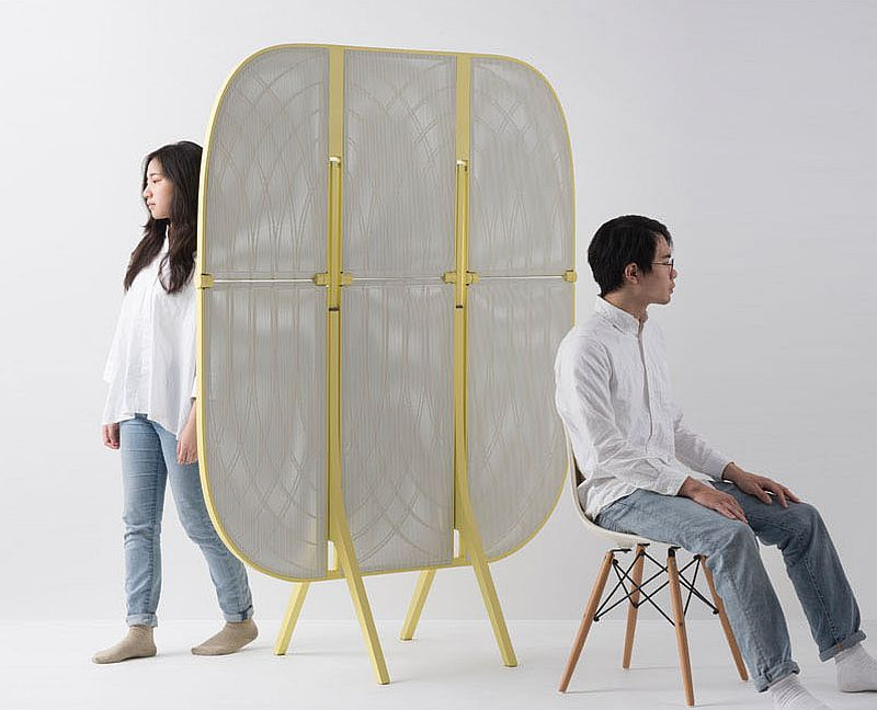 Plier – Modern room divider that also doubles as a table