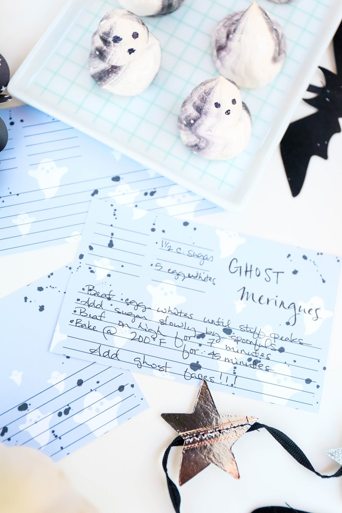Printable recipe cards for Halloween