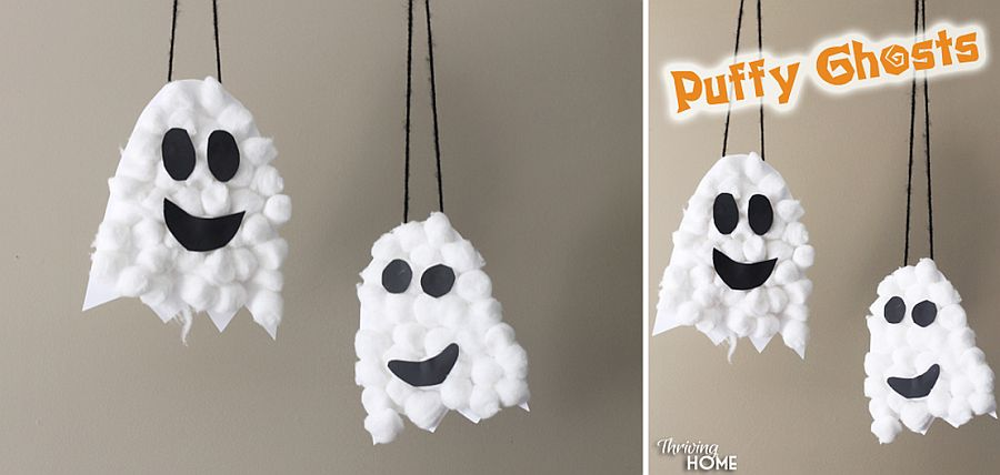 Puffy Ghosts DIY idea takes little time to craft