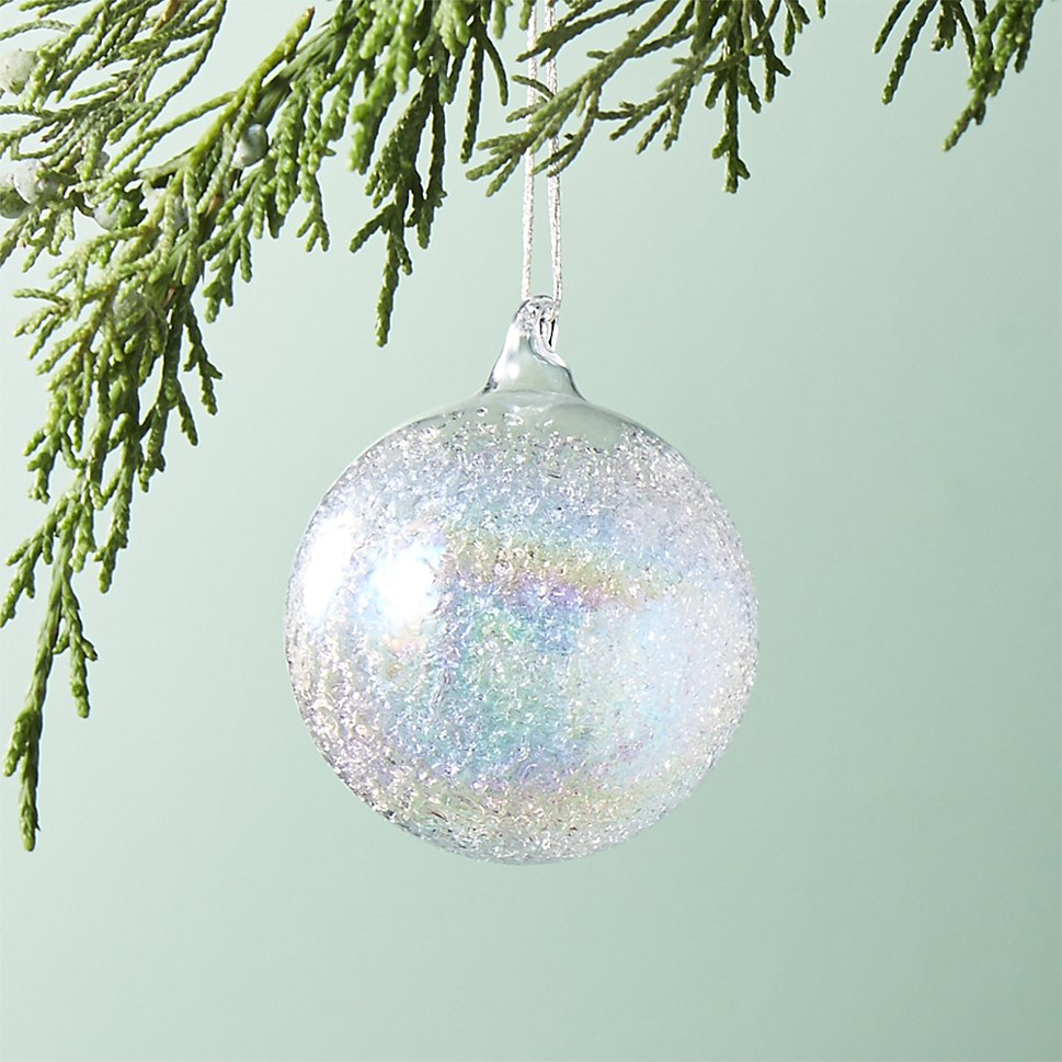 Rainbow iridescent ball ornament