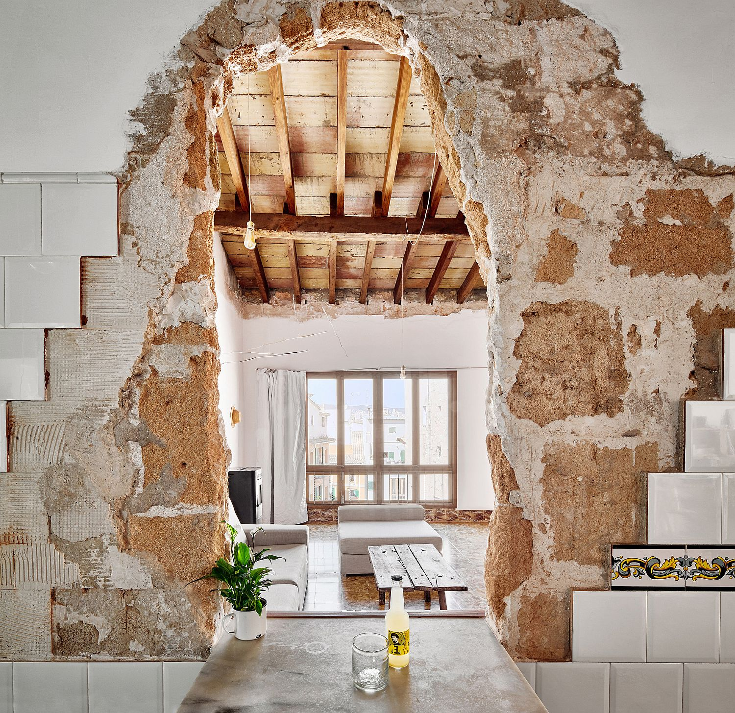 Refurbished and revitalized old homes in Palma, Spain
