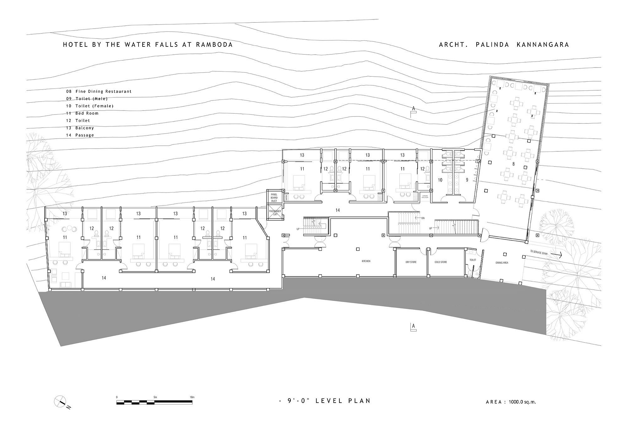 Restaurant-level-floor-plan-of-Hotel-by-the-Water-Falls-at-Ramboda