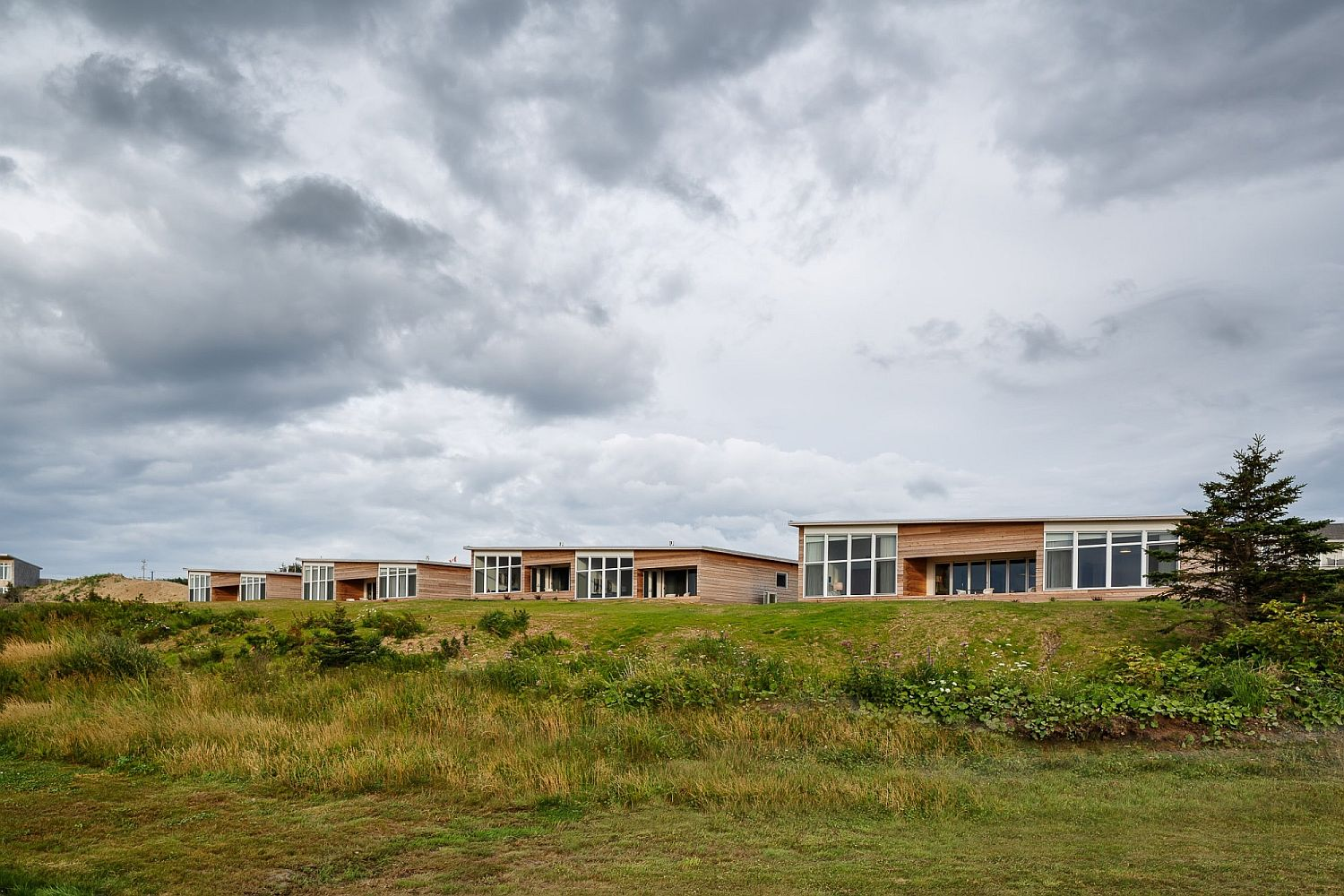 Serene modern cabins at Cabot Links with gold and ocean views