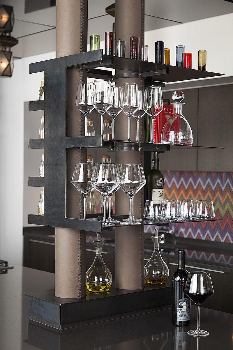 Slim floating shelves for the modern kitchen