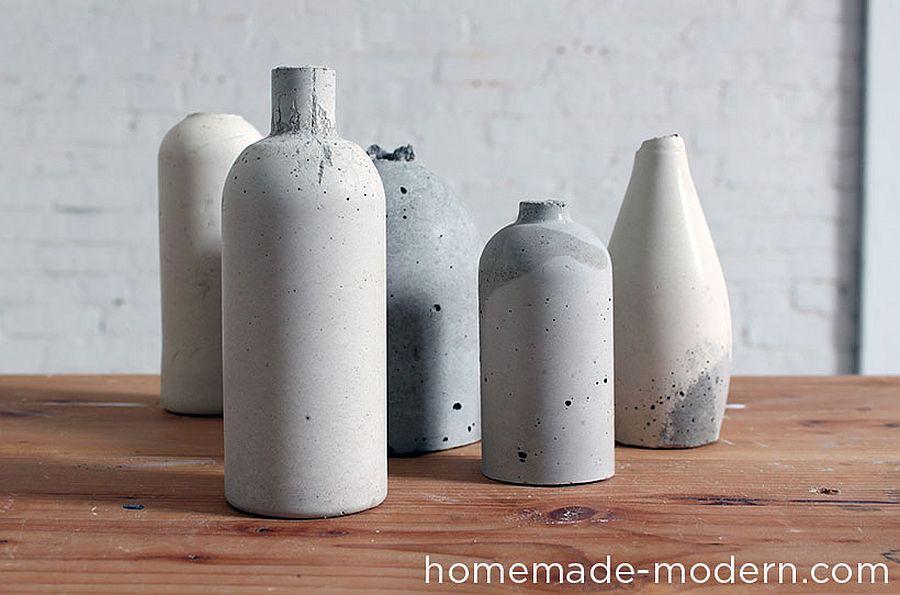 Stylish DIY Concrete Vase Idea