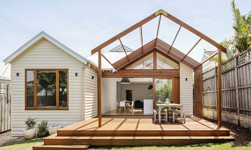 Gorgeous Gable House: Old Edwardian Timber Cottage with a New Rear Retreat