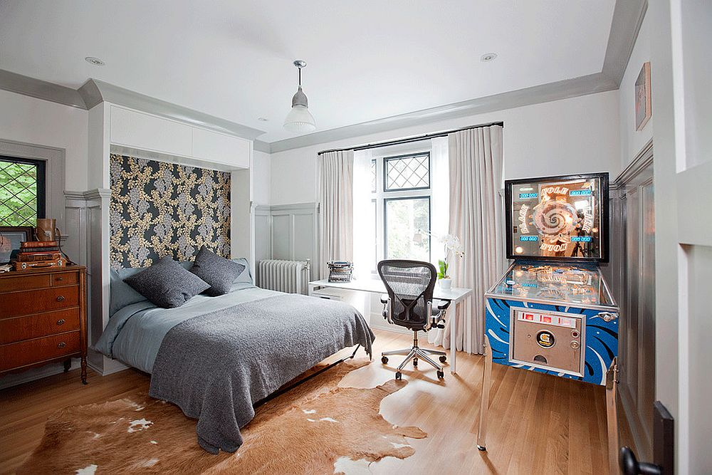 Turn that bedroom corner into a fun gaming space with a pinball machine