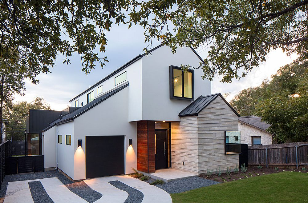Multiple Gable Roofs And Dark Accents Shape An Exceptional Street Facade