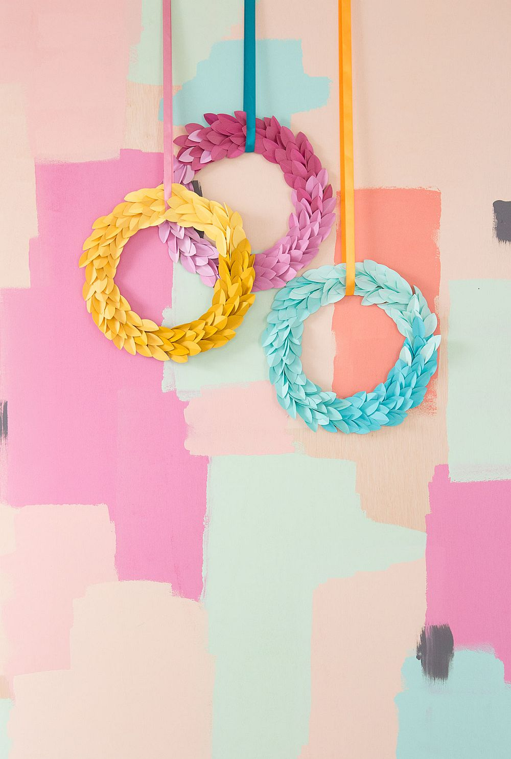 Vivacious ombre fall wreath DIY