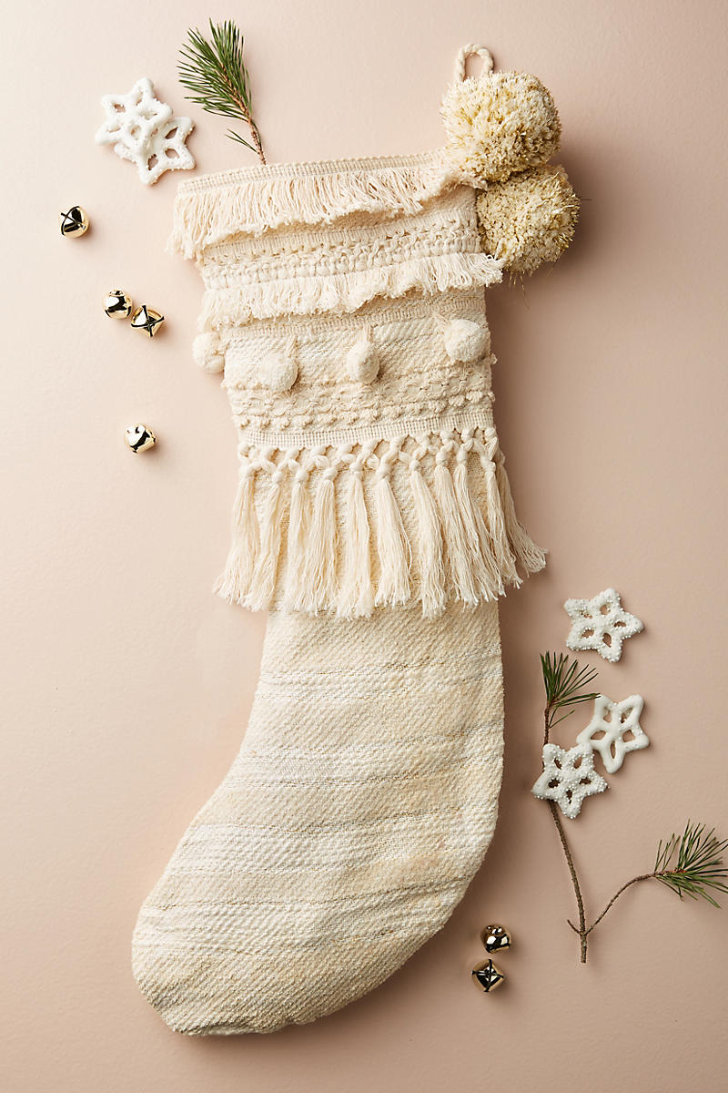 Winter stocking from Anthropologie