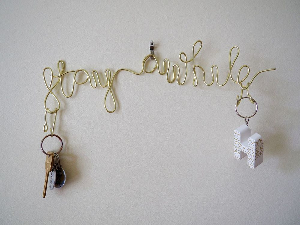 Wire key holder DIY is both elegant and minimal