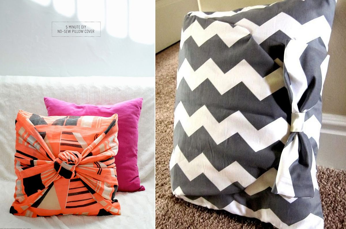 Diy Throw Pillow Cover No Sew : 10 Gorgeous DIY Throw Pillows that are Easy to Craft
