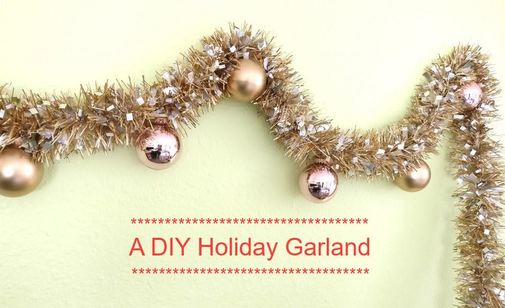 A festive holiday garland