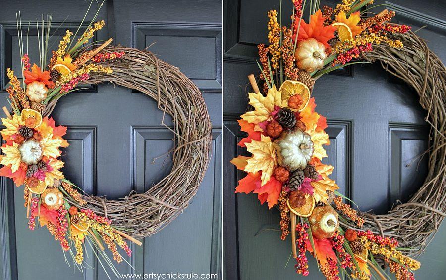 Basic DIY fall wreath idea